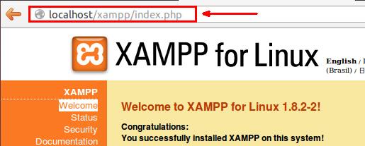 Локальный сервер XAMPP работает