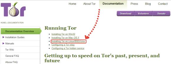 Сайт проекта Tor