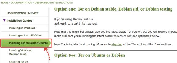 Выбираем установку для Debian и Ubuntu